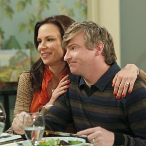 Still of Mary Lynn Rajskub and Rhys Darby in How to Be a Gentleman (2011)