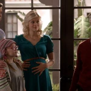 Still of Justin Bartha, Andrew Rannells, Georgia King and Bebe Wood in The New Normal (2012)