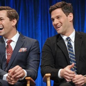 Justin Bartha and Andrew Rannells at event of The New Normal (2012)