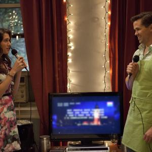 Still of Andrew Rannells and Allison Williams in Girls (2012)