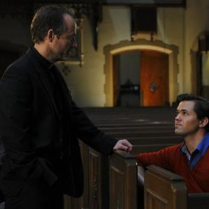 Still of John Benjamin Hickey and Andrew Rannells in The New Normal (2012)