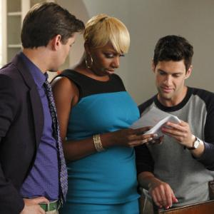 Still of Justin Bartha, Andrew Rannells and NeNe Leakes in The New Normal (2012)