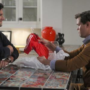 Still of Justin Bartha, Andrew Rannells and Trae Patton in The New Normal (2012)