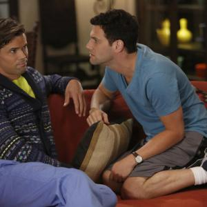 Still of Justin Bartha and Andrew Rannells in The New Normal (2012)