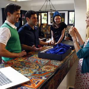 Still of Justin Bartha, Andrew Rannells, Georgia King, Trae Patton and Bebe Wood in The New Normal (2012)