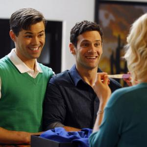 Still of Justin Bartha, Andrew Rannells, Georgia King and Trae Patton in The New Normal (2012)