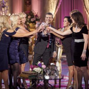 Still of Kim Richards Andy Cohen Camille Grammer Kyle Richards Lisa Vanderpump Adrienne Maloof and Taylor Armstrong in The Real Housewives of Beverly Hills 2010