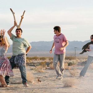 Still of Melanie Lynskey, David Krumholtz, Jason Ritter and Gillian Jacobs in Teddy Bears (2013)