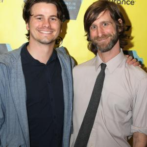 Michael Levine, Jason Ritter and Lawrence Michael Levine at event of Wild Canaries (2014)
