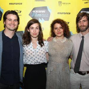 Michael Levine, Jason Ritter, Alia Shawkat, Lawrence Michael Levine and Sophia Takal at event of Wild Canaries (2014)