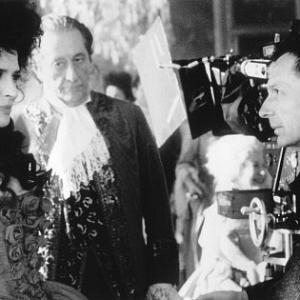 Fanny Ardant Patrice Leconte and Jean Rochefort in Ridicule 1996