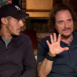 Still of Kim Coates and Theo Rossi in IMDb What to Watch 2013