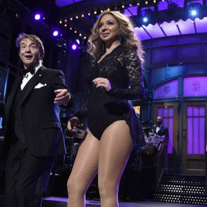Martin Short and Maya Rudolph at event of Saturday Night Live: 40th Anniversary Special (2015)