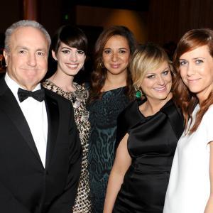 Anne Hathaway, Lorne Michaels, Amy Poehler, Maya Rudolph and Kristen Wiig