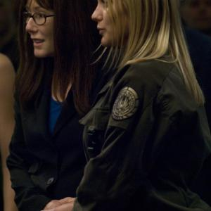 Still of Mary McDonnell and Katee Sackhoff in Battlestar Galactica 2004