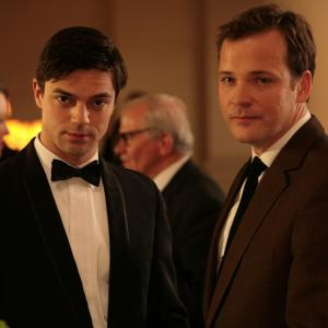 Still of Peter Sarsgaard and Dominic Cooper in An Education (2009)