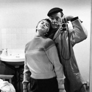 Photographer Bob Willoughby and Jean Seberg during the making of Saint Joan