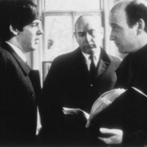 l to r Paul MccArtney producer Walter Shenson and director Richard Lester