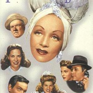 Marlene Dietrich, Orson Welles, W.C. Fields, Laverne Andrews, Maxene Andrews, Patty Andrews, George Raft, Dinah Shore, Vera Zorina, The Andrews Sisters
