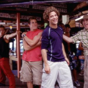 LR Brandon Greg Siff in red Justin Justin Guarini and Eddie Brian Dietzen enjoy Spring Break in Miami Background dancer at left Brandon Henschel