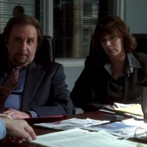Still of Patricia Richardson and Ron Silver in The West Wing (1999)