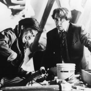 Still of Pierce Brosnan and Ron Silver in Live Wire 1992
