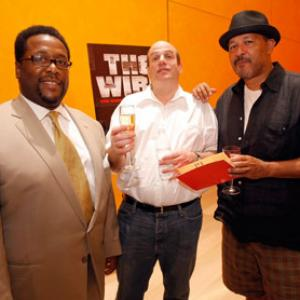 Clark Johnson, Wendell Pierce, David Simon