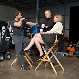 Charles Roven, Zack Snyder and Deborah Snyder in Zmogus is plieno (2013)