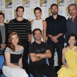 Ben Affleck, Holly Hunter, Jeremy Irons, Amy Adams, Henry Cavill, Jesse Eisenberg, Zack Snyder and Gal Gadot