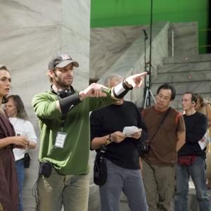 Still of Lena Headey and Zack Snyder in 300 (2006)