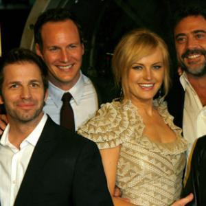 Malin Akerman, Jeffrey Dean Morgan, Zack Snyder and Patrick Wilson at event of Watchmen (2009)