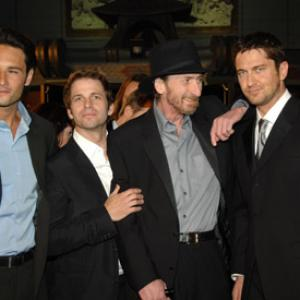 Gerard Butler, Frank Miller, Rodrigo Santoro and Zack Snyder at event of 300 (2006)