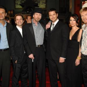Gerard Butler, Lena Headey, Frank Miller, Rodrigo Santoro, Zack Snyder and David Wenham at event of 300 (2006)