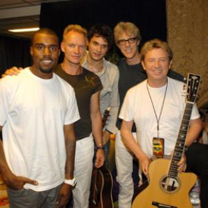Sting, Stewart Copeland, Andy Summers, John Mayer, Kanye West