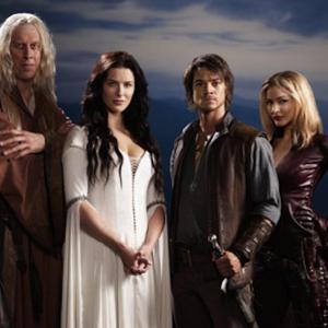 Still of Craig Horner, Bruce Spence, Bridget Regan and Tabrett Bethell in Legend of the Seeker (2008)