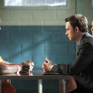 Still of Jordana Spiro and Quinton Aaron in Harrys Law 2011