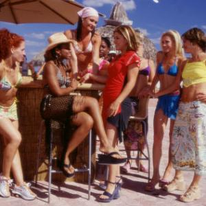 Best pals Kaya Anika Noni Rose wearing hat Kelly Kelly Clarkson center in red and Alexa Katherine Bailess in blue enjoy their Spring Break amid new friends played by left to right Kristin Denehy Stacy Walker Nancy Anderson and Laurie Sposit