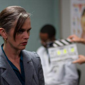 In character before the slate falls Paula Spurr playing the role of Diane in Michael Vidlers awardwinning short Mine