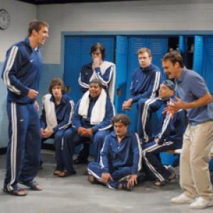 Still of Will Forte Bill Hader Kenan Thompson Seth Meyers Andy Samberg and Michael Phelps in Saturday Night Live 1975