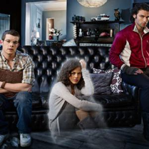 Still of Russell Tovey Lenora Crichlow and Aidan Turner in Being Human 2008