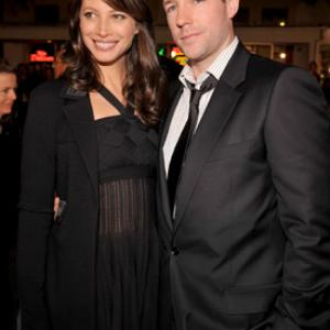 Edward Burns and Christy Turlington at event of 27 Dresses (2008)