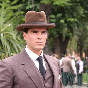 EDUARDO VERASTEGUI, IN THE SET OF THE FILM CRISTIADA.