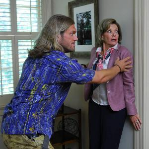 Still of Adam Copeland and Jessica Walter in Bending the Rules (2012)