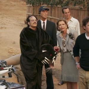 Still of Jason Bateman, Will Arnett, David Cross and Jessica Walter in Arrested Development (2003)