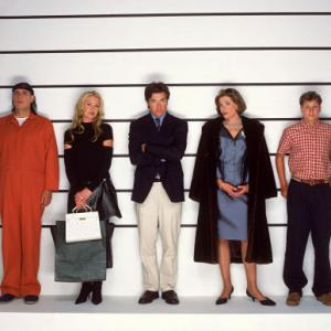 Still of Jason Bateman, Jeffrey Tambor, Portia de Rossi, Michael Cera and Jessica Walter in Arrested Development (2003)