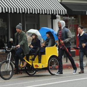 Still of Zooey Deschanel, Max Greenfield, Damon Wayans Jr. and Hannah Simone in New Girl (2011)