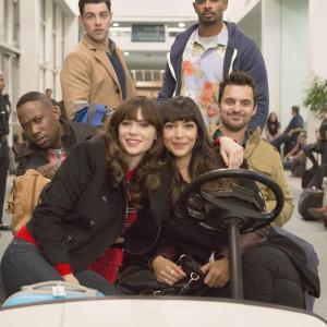 Still of Max Greenfield, Damon Wayans Jr., Hannah Simone, Lamorne Morris and Jake Johnson in New Girl (2011)