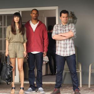 Still of Damon Wayans Jr., Hannah Simone and Jake Johnson in New Girl (2011)