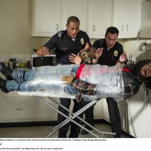 Still of Damon Wayans Jr., Keegan-Michael Key and Jake Johnson in Apsimeskim farais (2014)