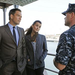 Still of Michael Weatherly and Cote de Pablo in NCIS Naval Criminal Investigative Service 2003